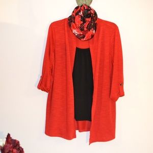 NOTATIONS TOP WITH SCARF